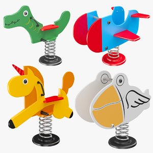 3D model spring rockers