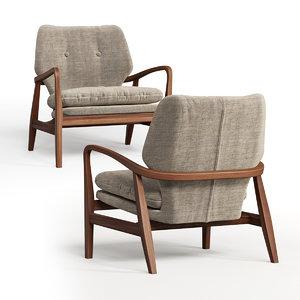 3D armchair natural chair