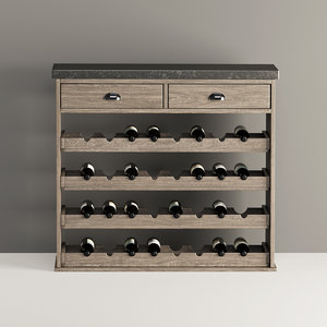 modeled chatsworth wine rack model