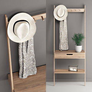 3D model modeled aalto wall rack