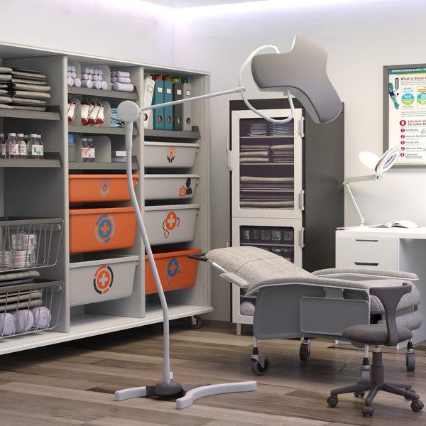 3D model exam room