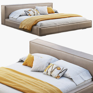 queen loft leather bed model