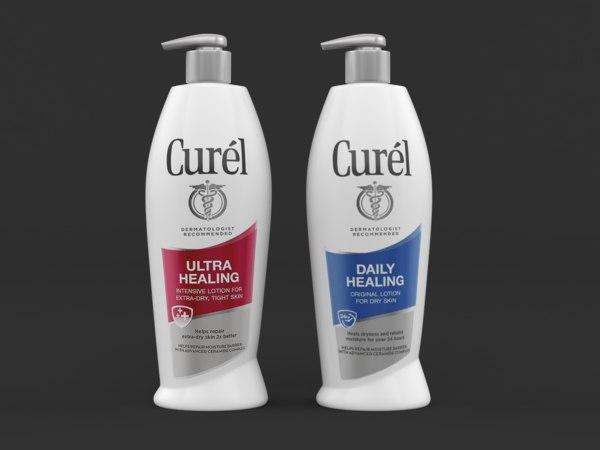 curel daily healing body 3D model