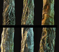 Jungle Tree Bark Pack 7