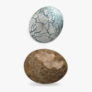 3D dinosaur egg