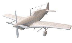3D doflug d-3802 fighter plane model