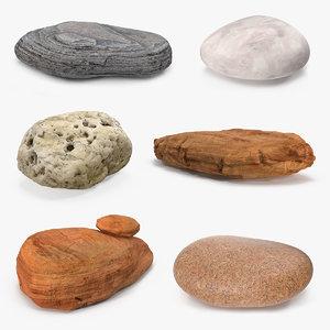 3D stone rocks 6
