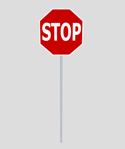 3D stop traffic sign