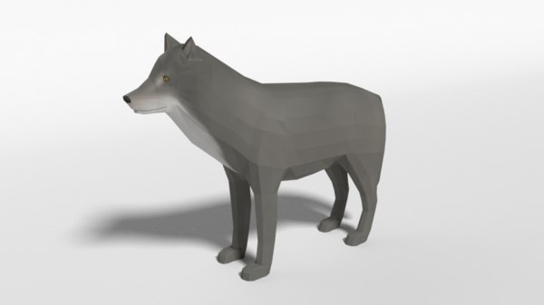 3D grey wolf model