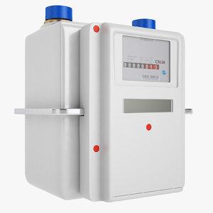 gas prepayment meter 3D model