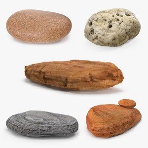 3D stone rocks 5 model