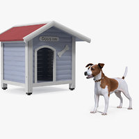 3D jack russell terrier dog