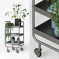 3D model mobility trolley grey