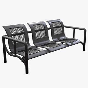 3D city bench 1