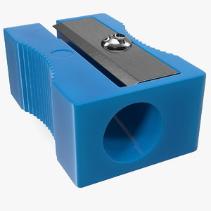classic plastic pencil sharpener 3D model