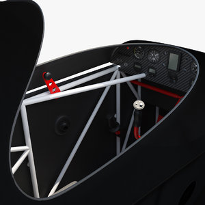 light sport aircraft cockpit 3D model