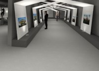 revit art gallery 3D model