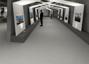 revit art gallery 3D model