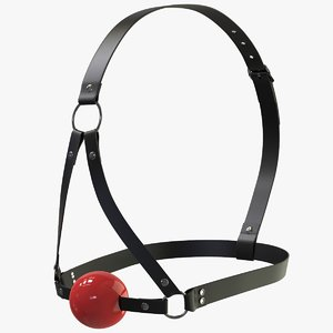 red ball gag fetish 3D