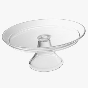 3D cake stand glass