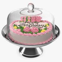 metal cake stand birthday model