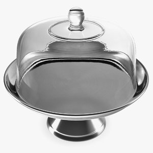 3D cake stand metal dome model