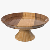 3D cake stand wooden
