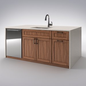 kitchen island 3D