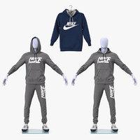 3D nike sportswear suits sports model