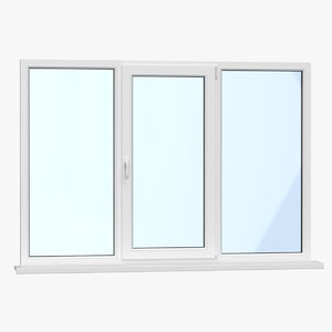 3D realistic modern upvc window