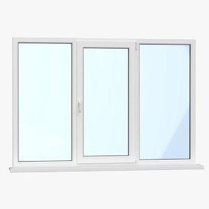 3D realistic modern upvc window
