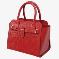 3D alligator women handbag red leather