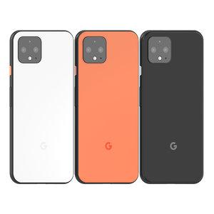 google pixel 4 colours 3D model