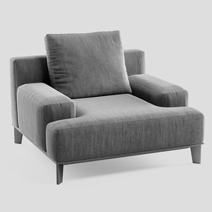ronny alberta armchair 3D model
