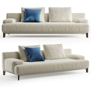 3D ronny alberta sofa 2 seater model