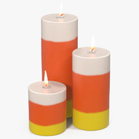 3D candles corn flame light model