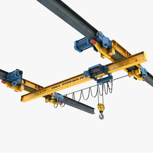 overhead suspended crane 3D