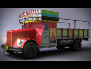 3D indian truck