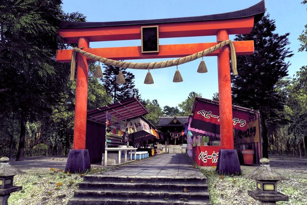 japanese shrine temple 3D model