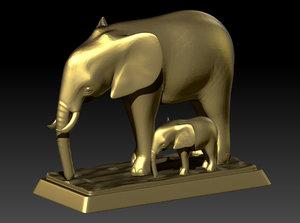 elephant printing 3D model