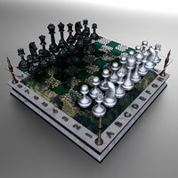 landscape chessboard model