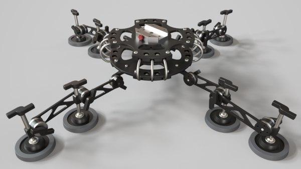 3D scalca sprut model