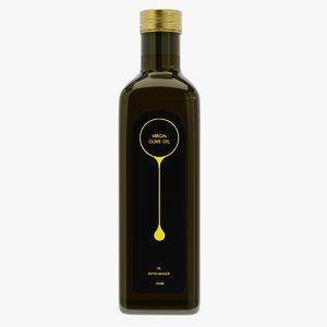 oil bottle 100ml 2 3D model