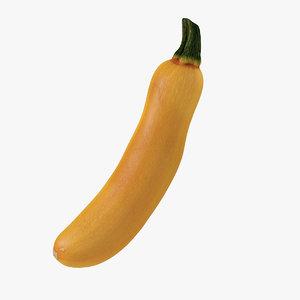 3D yellow zucchini
