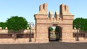 3D design public park