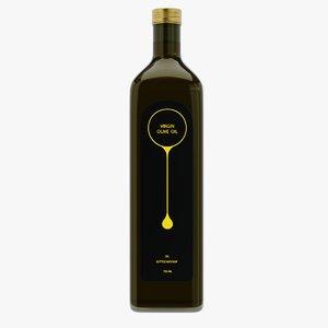 3D oil bottle 750ml 2 model