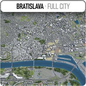 3D bratislava surrounding area - model