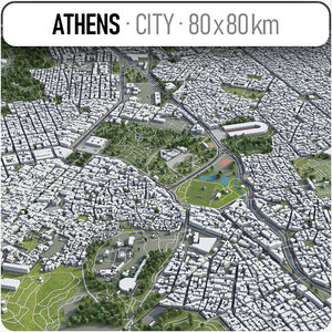 athens surrounding - 3D model