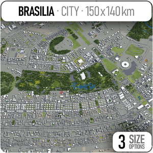 3D brasilia surrounding area -
