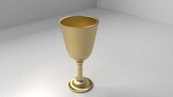 copper goblet 3D model